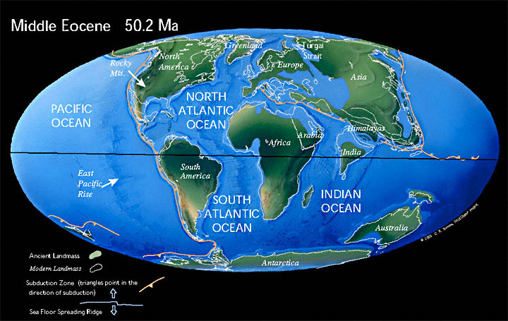 Paleogeographic reconstruction for the Paleogene