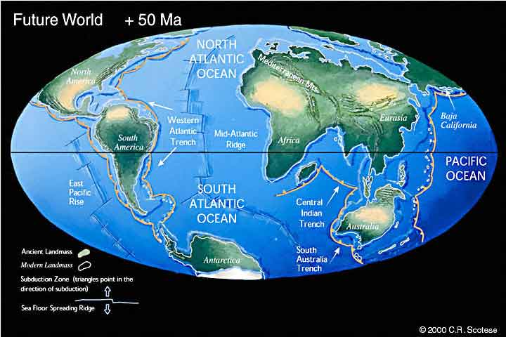 Map Of Australia 50 Million Years Ago.Future World