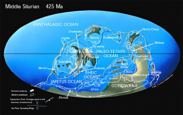 Paleogeographic reconstruction for the Silurian
